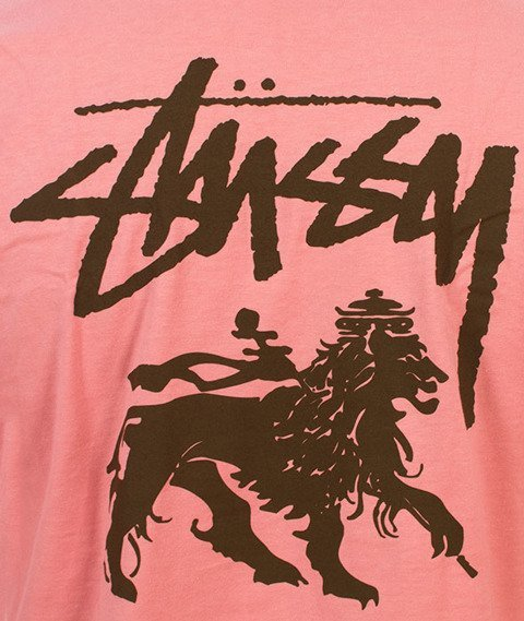 Stussy-Stock Lion T-Shirt Dusty Rose