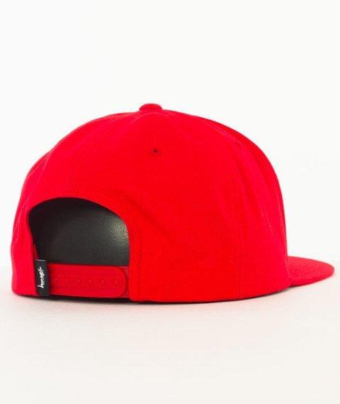Stussy-Stock Lock Cap Snapback Czapka Red