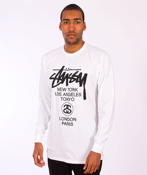 Stussy-World Tour Longsleeve White/Black