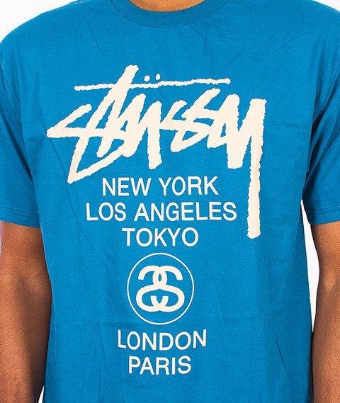 Stussy-World Tour T-Shirt Blue