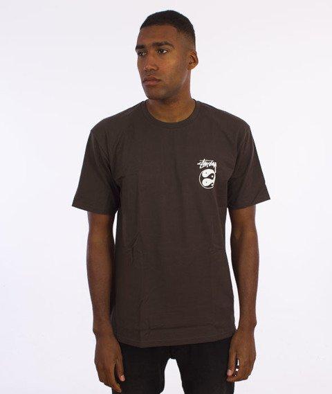 Stussy-Ying Yangz T-Shirt Ciemnobrązowy