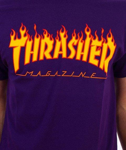 Thrasher-Flame T-Shirt Purple