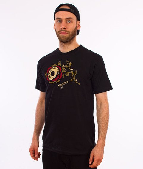 Turbokolor-Rose T-Shirt Black