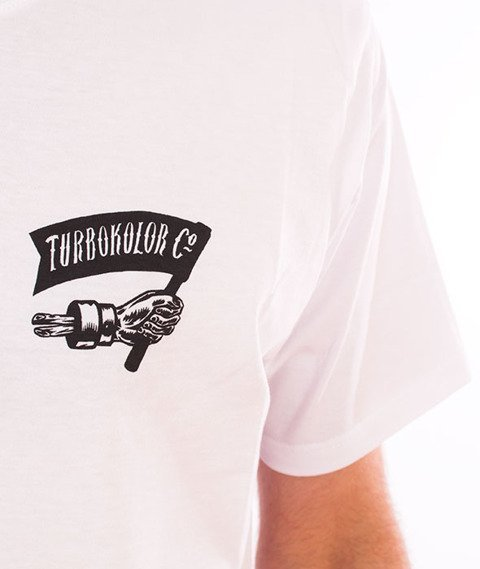 Turbokolor-Simple Thread Hand T-Shirt White