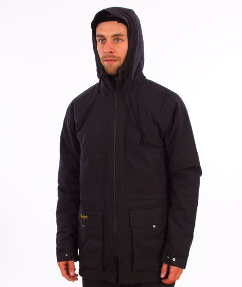 Turbokolor-Simple Thread Parka Jacket Black