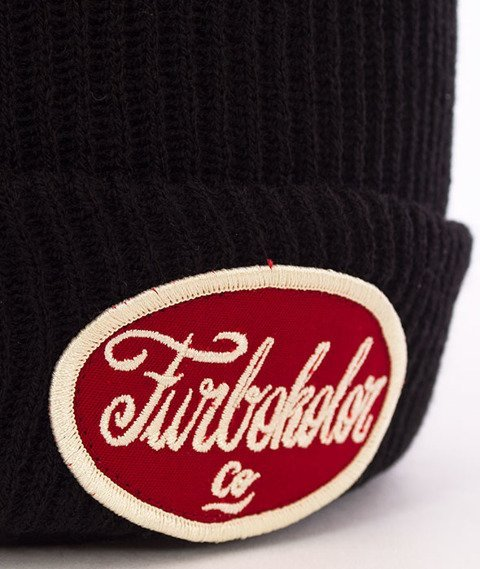 Turbokolor-Simple Thread Tag Beanie Black