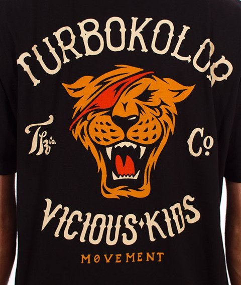 Turbokolor-Simple Thread Vicious Kids T-Shirt Black
