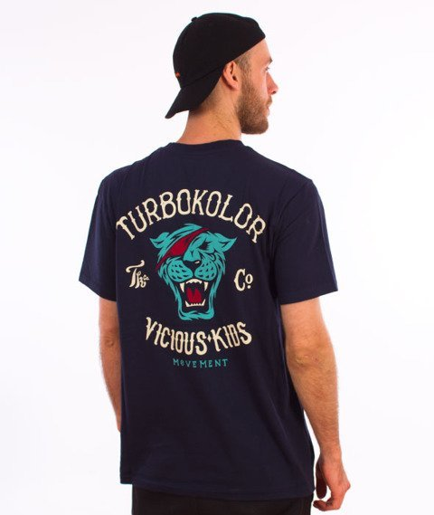 Turbokolor-Simple Thread Vicious Kids T-Shirt Navy