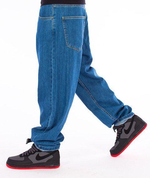 Unhuman-Baggy Jeans Spodnie Medium Blue