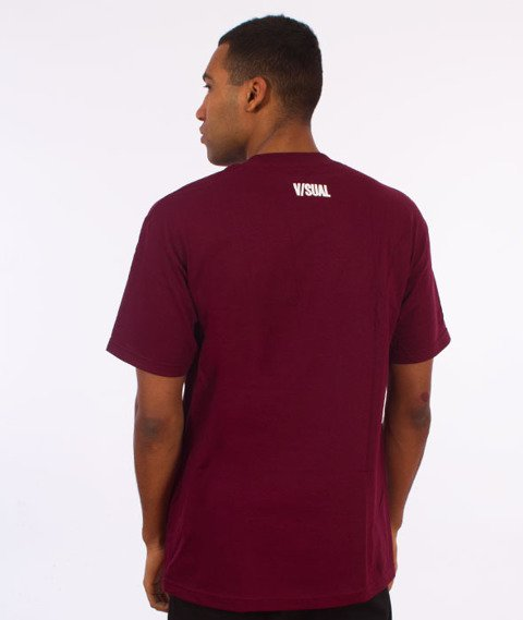 Visual-Censored T-Shirt Burgundy