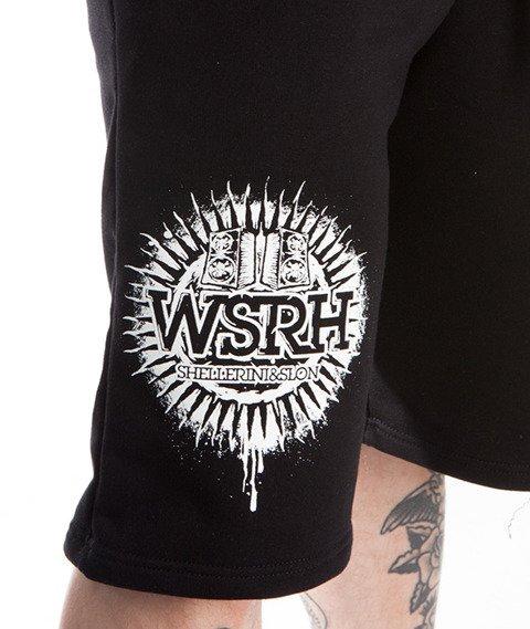 WSRH-Słońce Spodenki Dresowe Czarne