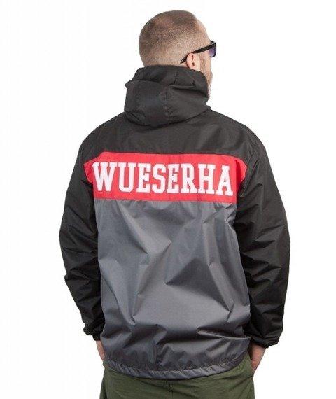 WSRH-WueSeRHa Kurtka Wiatrówka Czarna/Szara