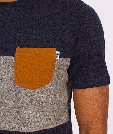 Wrung-Tricolore T-Shirt Szary/Niebieski