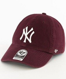 47 Brand-Clean Up New York Yankees Czapka z Daszkiem Bordowa