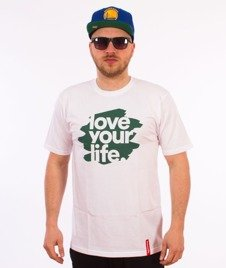 Alkopoligamia-Loveyourlife Blur T-Shirt Biały