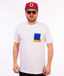 Alkopoligamia-Pocket T-Shirt Biały