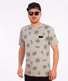 Alkopoligamia-Zdrowie Warzywa T-Shirt Szary