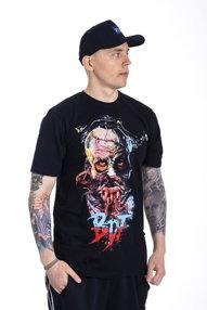 Brain Dead Familia-Cyber Zombie T-shirt Czarny