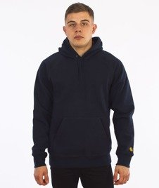 Carhartt-Hooded Chase Sweat Navy