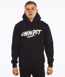 Carhartt-Hooded Painted Script Sweat Black/White