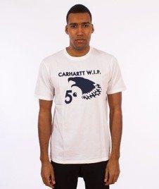 Carhartt WIP-5 Cent Eagle T-Shirt White/Navy
