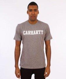 Carhartt WIP-College T-Shirt Grey Heather/White