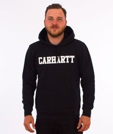 Carhartt WIP-Hooded College Sweat Bluza Kaptur Dark Black/White