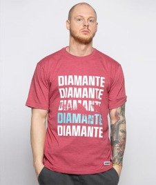 Diamante-Scratch T-Shirt Bordowy