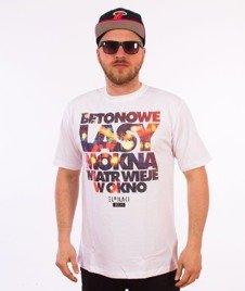 El Polako-Betonowe T-Shirt Biały