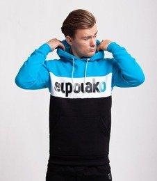 El Polako Elpo New Bluza z Kapturem Błękitny