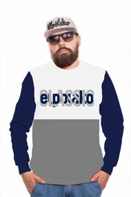 El Polako HALF CLASSIC Bluza Szary/Granatowy