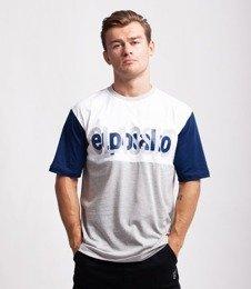 El Polako HALF CLASSIC T-Shirt Szary/Granatowy