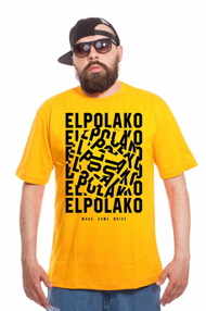 El Polako NOISE T-Shirt Żółty