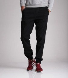El Polako-New Box Jogger Slim z Gumą Spodnie Czarny Jeans