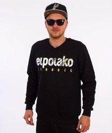 El Polako-Shadow V-Neck Bluza Czarna