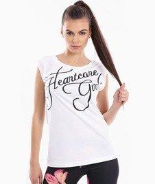 Endorfina-TDB Heartcore Script T-Shirt Damski Biały