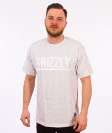 Grizzly-OG Stamp Logo Basic T-Shirt Grey