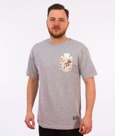 Grizzly-Trail Map Pocket T-Shirt Heather Grey