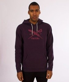 Iriedaily-Dad Flag Hoody Bluza Kaptur Purple Haze