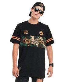 Lucky Dice-New College T-shirt Czarny/Camo