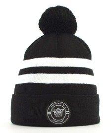 Lucky Dice-Winter Hat 2 Stripes Czarny/Biały