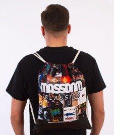 MASS-Golden Era Gym Bag Worek Czarny/Multikolor