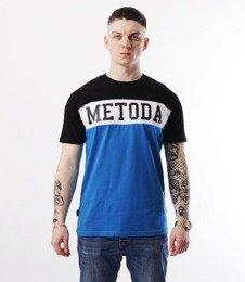 METODA -3 Colors T-Shirt Czarno Niebieski