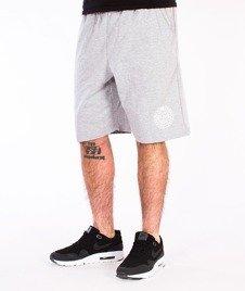 Mass-Base Spodnie Dresowe Krótkie Szare/Białe