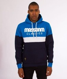 Mass-Respect Bluza Kaptur Blue/Navy