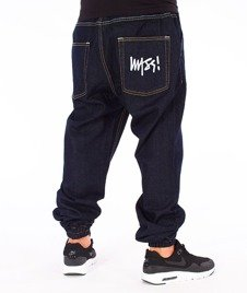 Mass-Signature Denim Sneakers Fit Jogger Rinse Blue