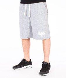Mass-Signature Handmade Spodnie Dresowe Krótkie Szare