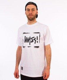 Mass-Street Sign T-Shirt Biały