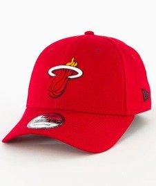 New Era-Miami Heat NBA Team 9Forty Czapka z Daszkiem Czerwona