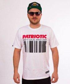 Patriotic-Barcode T-shirt Biały